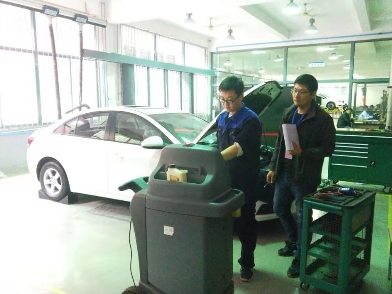 2019年徐州市职业学校技能大赛汽车机电维修技能大赛技能大赛在我校成功举办